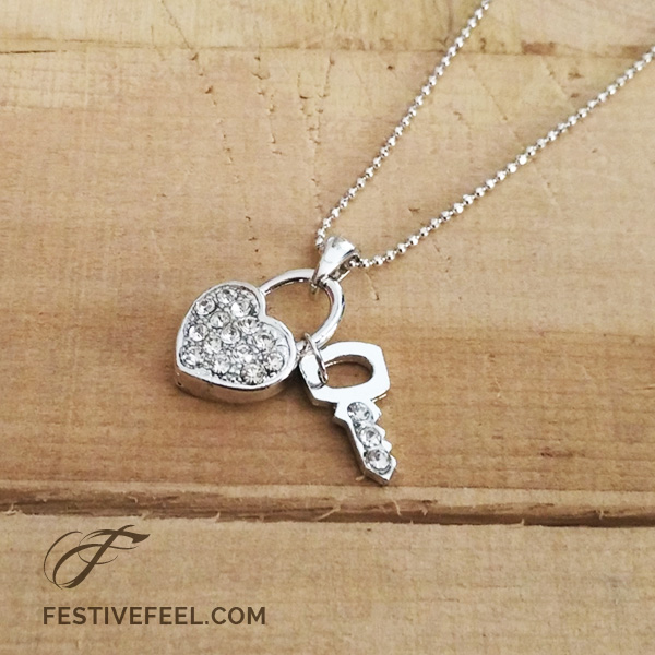 Romantic Lock and Key Necklace