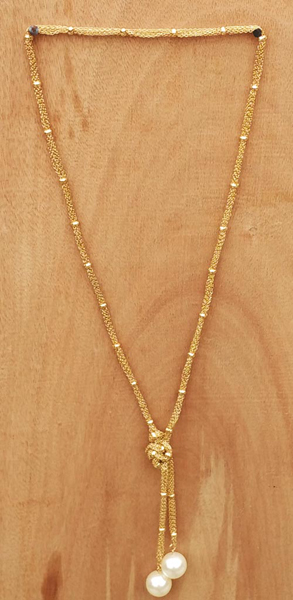 Gold Threads Knot Neclace